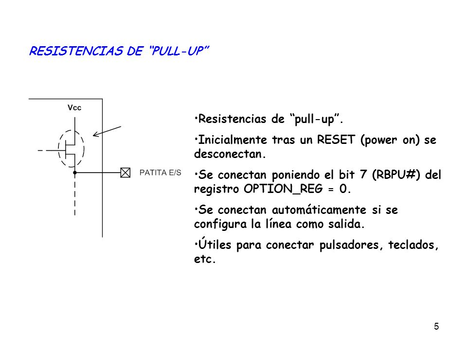 RESISTENCIAS DE PULL-UP