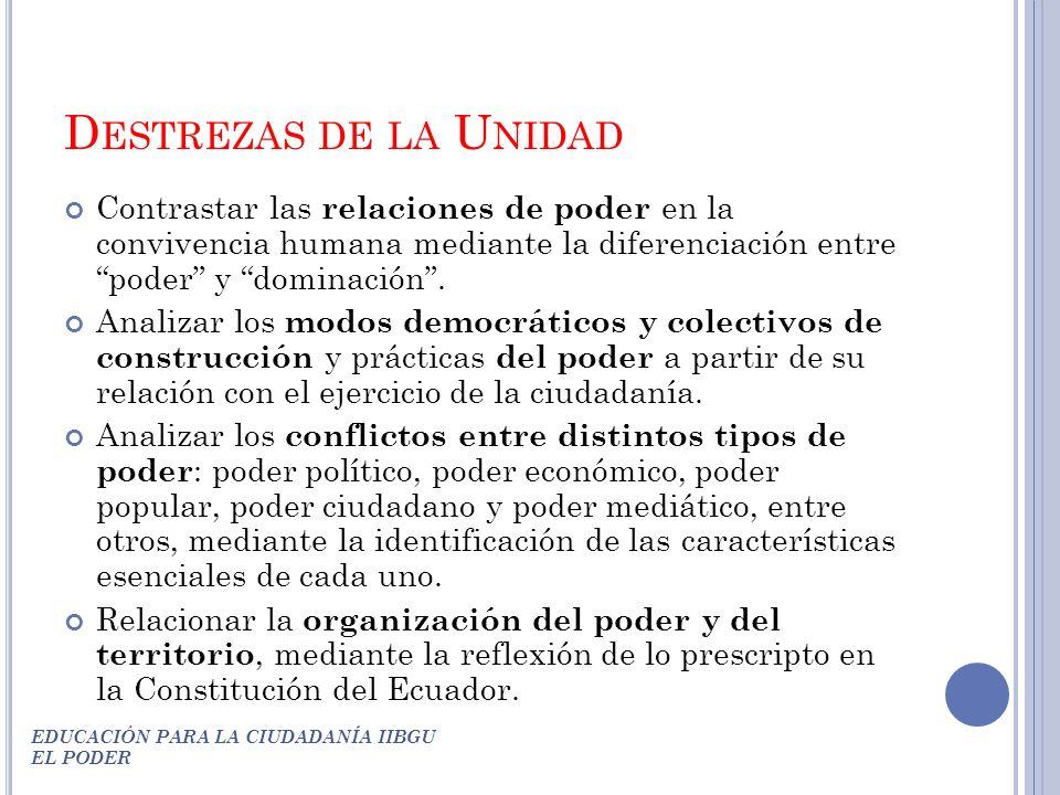 Educaci n para la ciudadan a segundo a o de bgu ppt for Educacion para poder