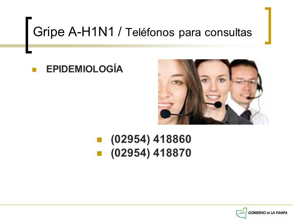 Gripe A-H1N1 / Teléfonos para consultas