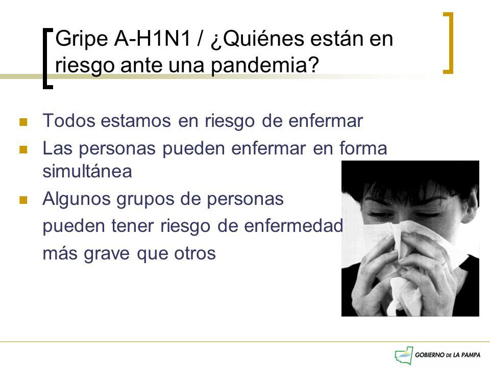 Gripe A-H1N1 / ¿Quiénes están en riesgo ante una pandemia