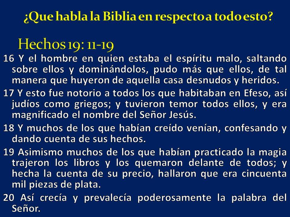 ¿Que habla la Biblia en respecto a todo esto