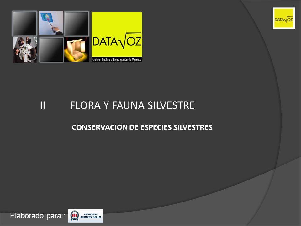 II FLORA Y FAUNA SILVESTRE
