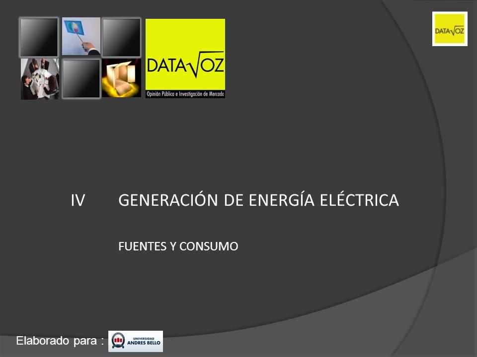 IV GENERACIÓN DE ENERGÍA ELÉCTRICA
