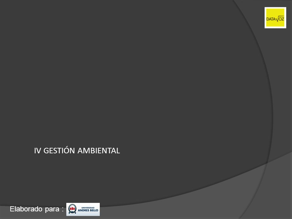 IV GESTIÓN AMBIENTAL