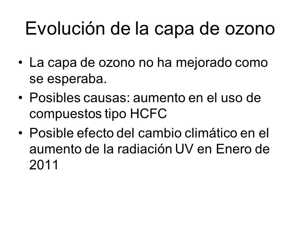 Evolución de la capa de ozono