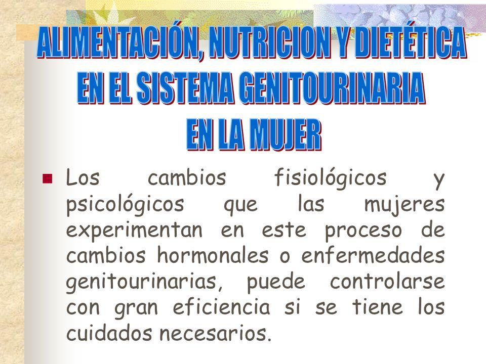 ALIMENTACIÓN, NUTRICION Y DIETÉTICA EN EL SISTEMA GENITOURINARIA