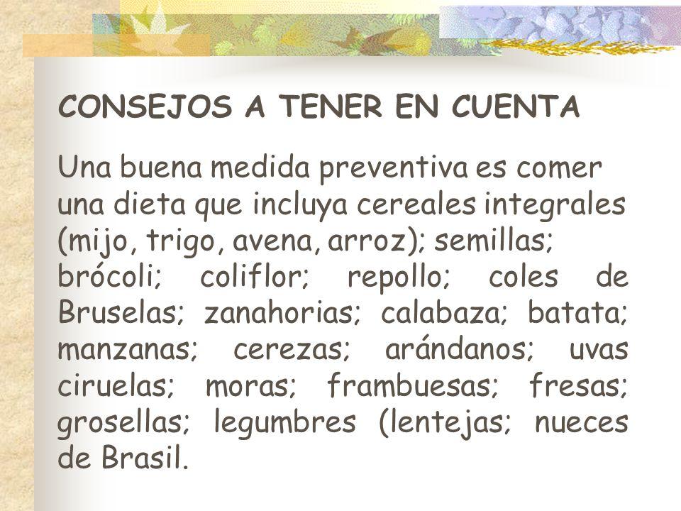 CONSEJOS A TENER EN CUENTA