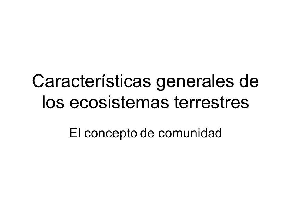 Características generales de los ecosistemas terrestres