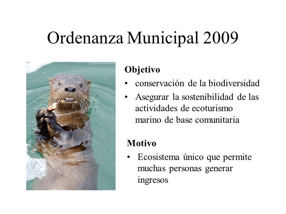 Ordenanza Municipal 2009 Objetivo conservación de la biodiversidad