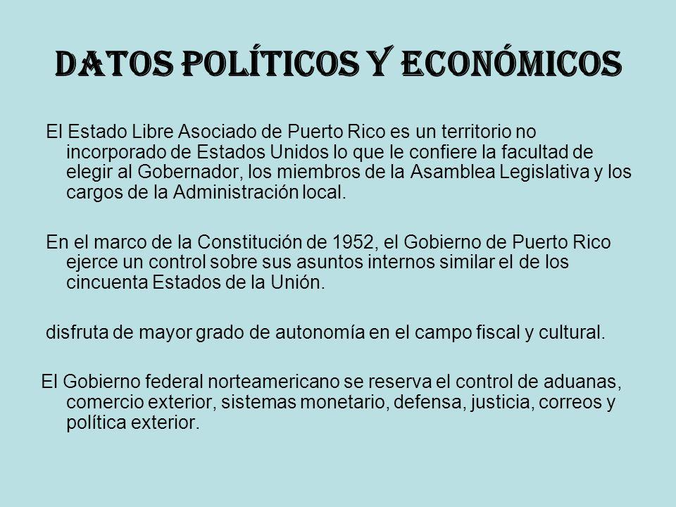 Datos políticos y económicos