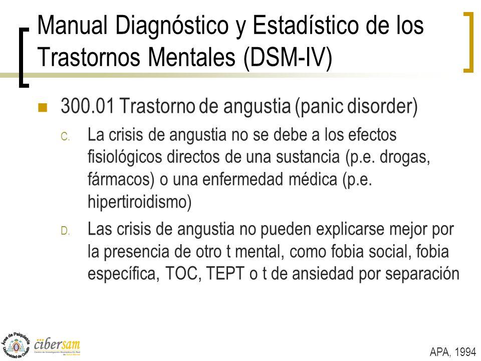 Manual Diagnóstico y Estadístico de los Trastornos Mentales (DSM-IV)