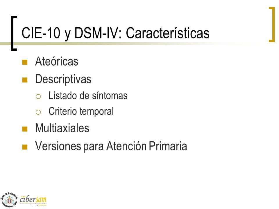 CIE-10 y DSM-IV: Características