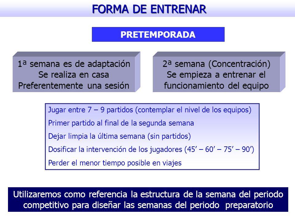 FORMA DE ENTRENAR PRETEMPORADA