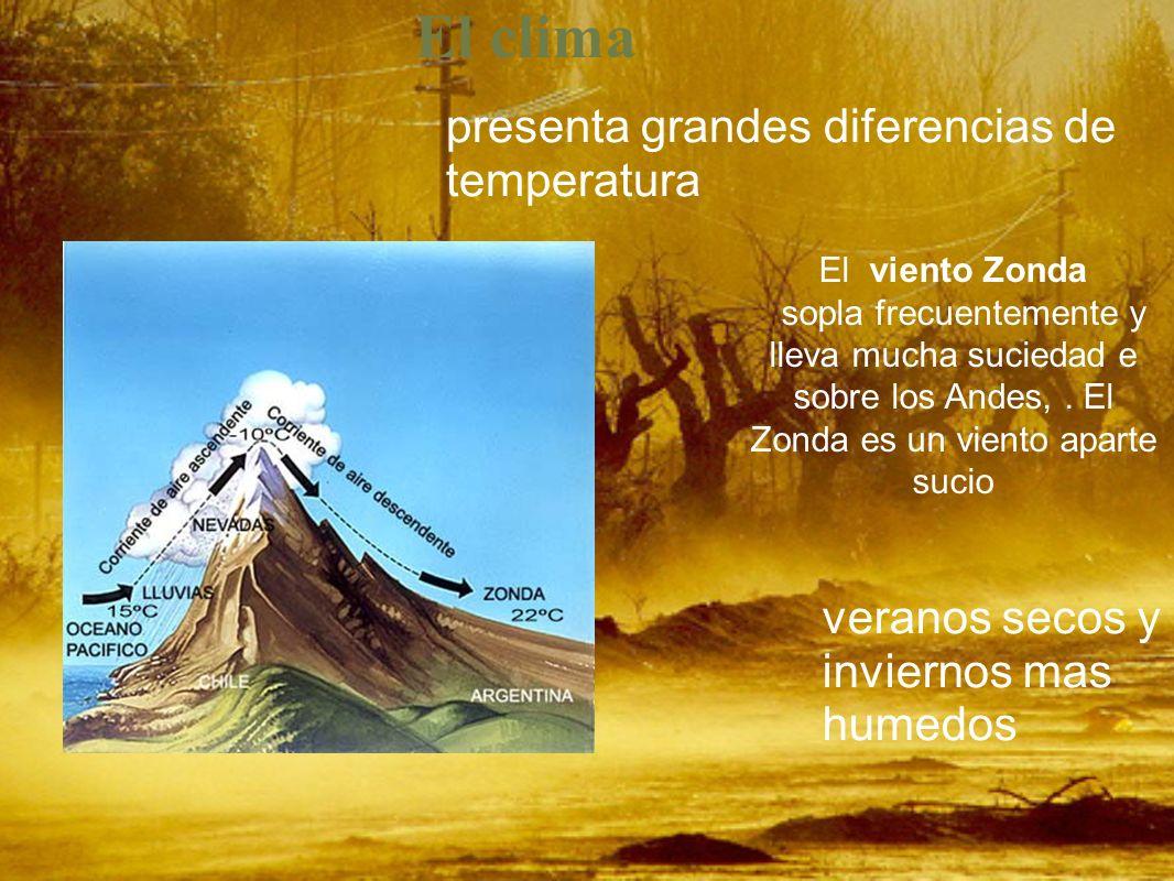 El clima presenta grandes diferencias de temperatura