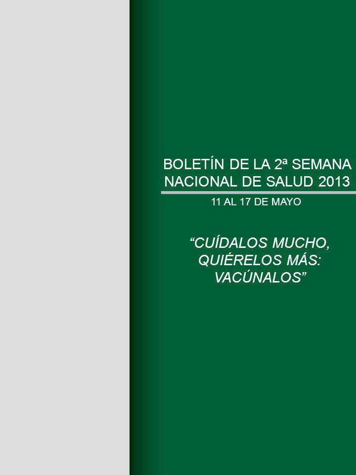 BOLETÍN DE LA 2ª SEMANA NACIONAL DE SALUD 2013