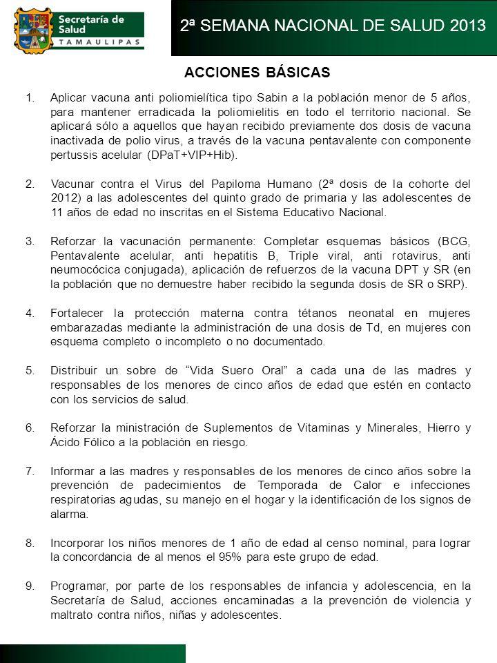 2ª SEMANA NACIONAL DE SALUD 2013