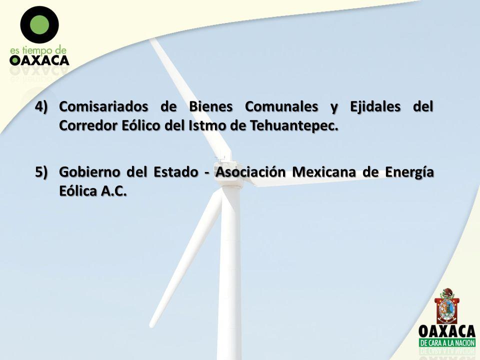 Comisariados de Bienes Comunales y Ejidales del Corredor Eólico del Istmo de Tehuantepec.