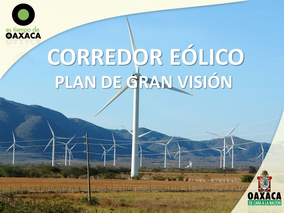 CORREDOR EÓLICO PLAN DE GRAN VISIÓN
