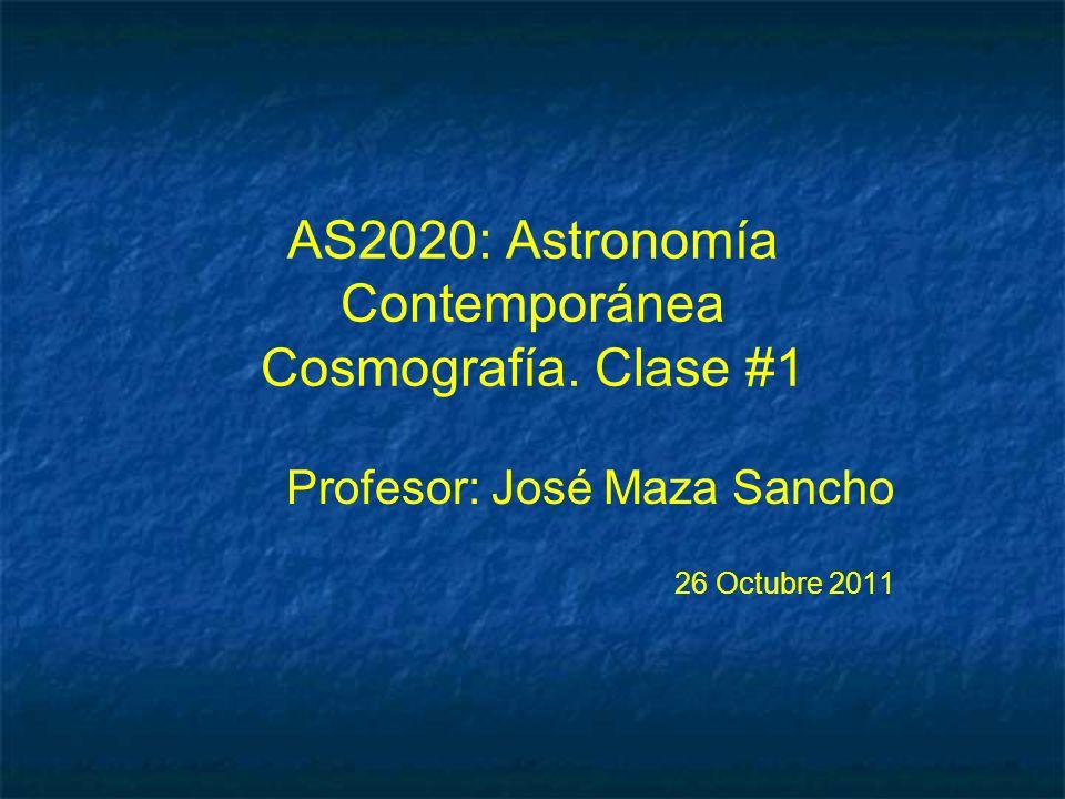 AS2020: Astronomía Contemporánea Cosmografía. Clase #1