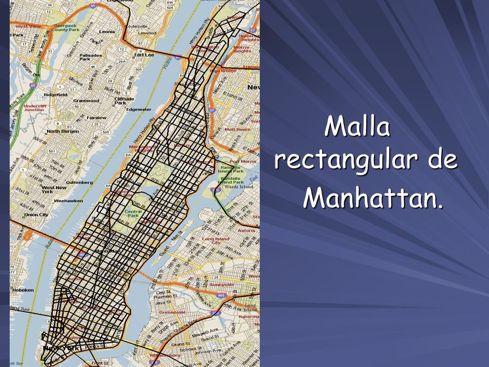 Malla rectangular de Manhattan.