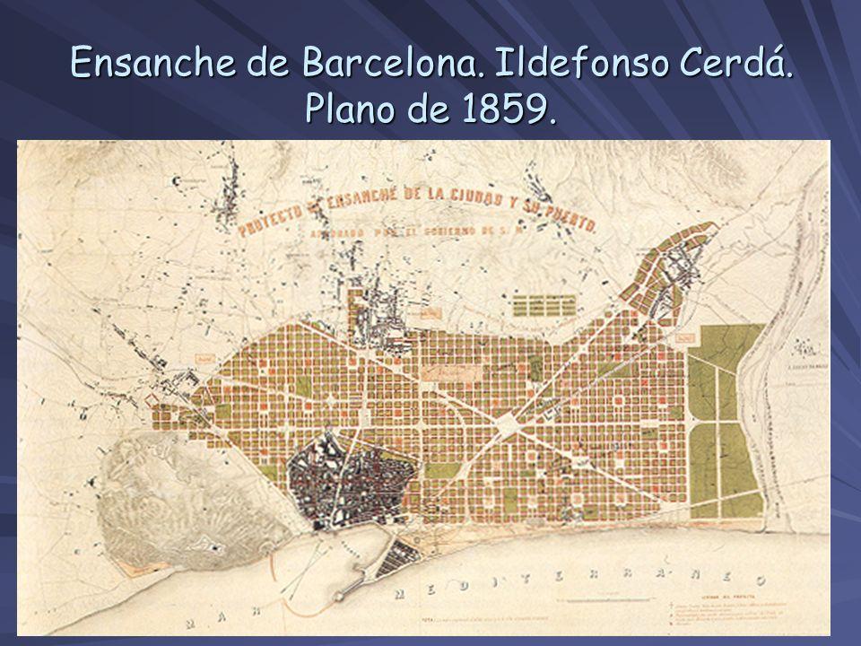 Ensanche de Barcelona. Ildefonso Cerdá. Plano de 1859.