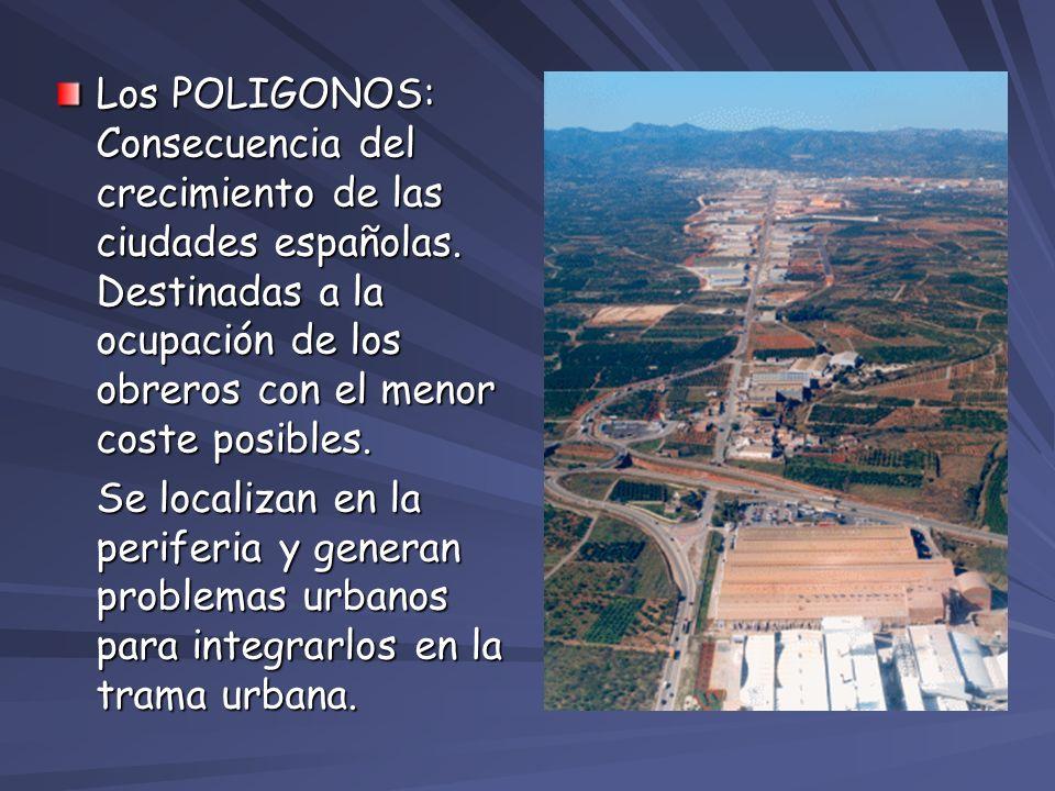 Los POLIGONOS: Consecuencia del crecimiento de las ciudades españolas