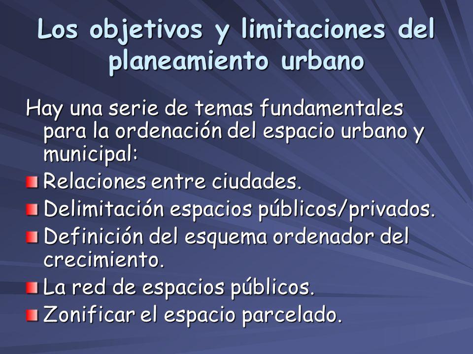 Los objetivos y limitaciones del planeamiento urbano
