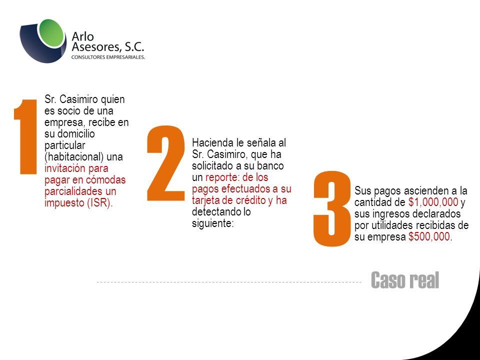 Sr. Casimiro quien es socio de una empresa, recibe en su domicilio particular (habitacional) una invitación para pagar en cómodas parcialidades un impuesto (ISR).