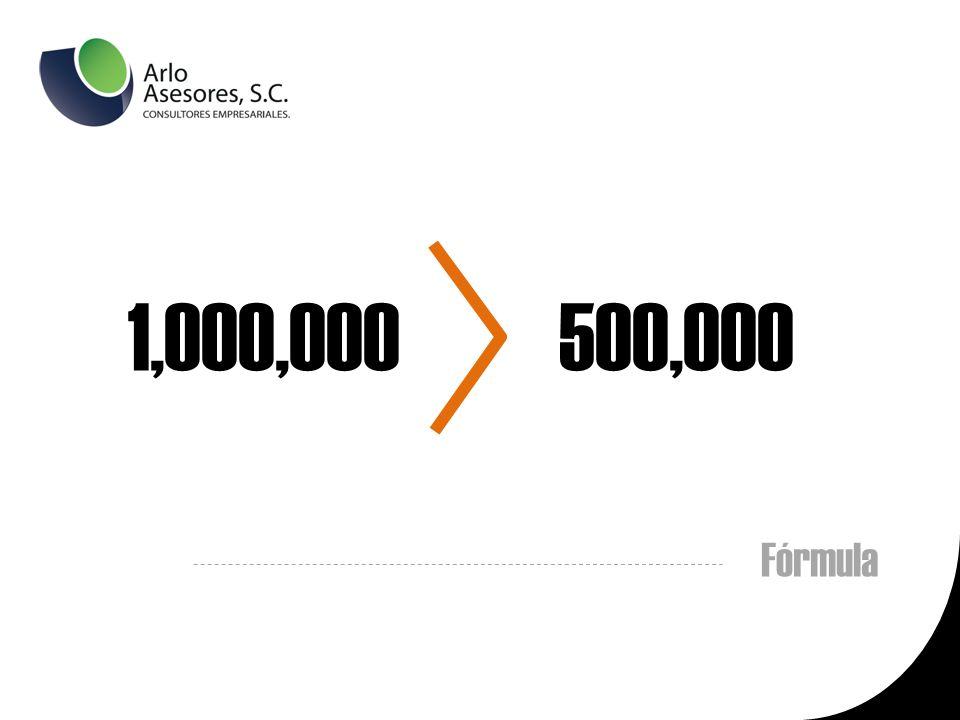 1,000,000 500,000 Fórmula