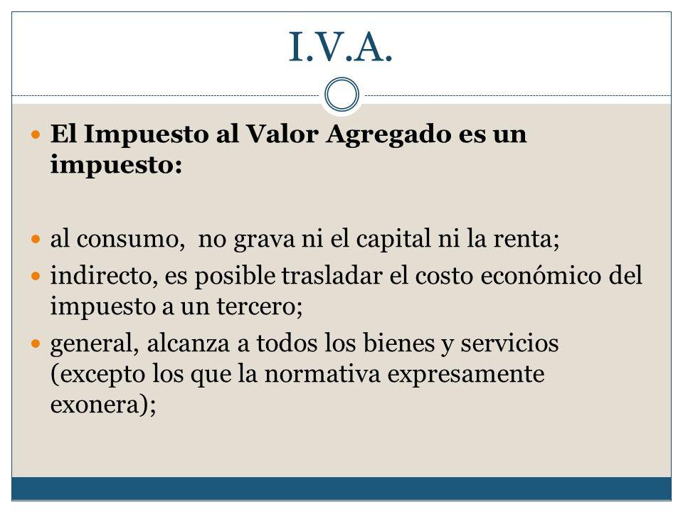 I.V.A. El Impuesto al Valor Agregado es un impuesto: