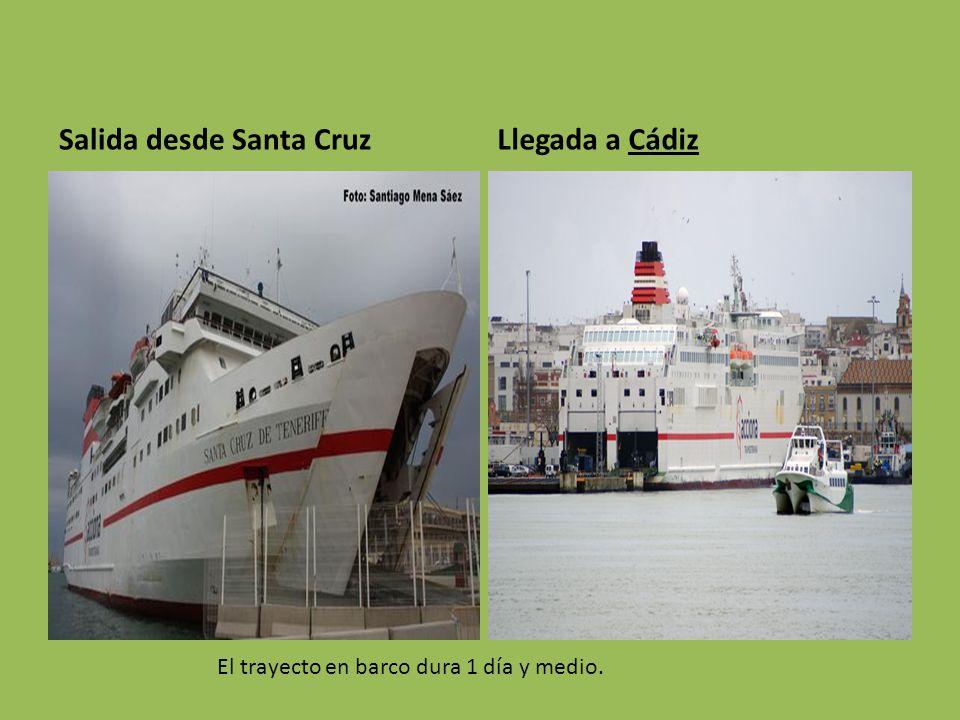 Salida desde Santa Cruz Llegada a Cádiz