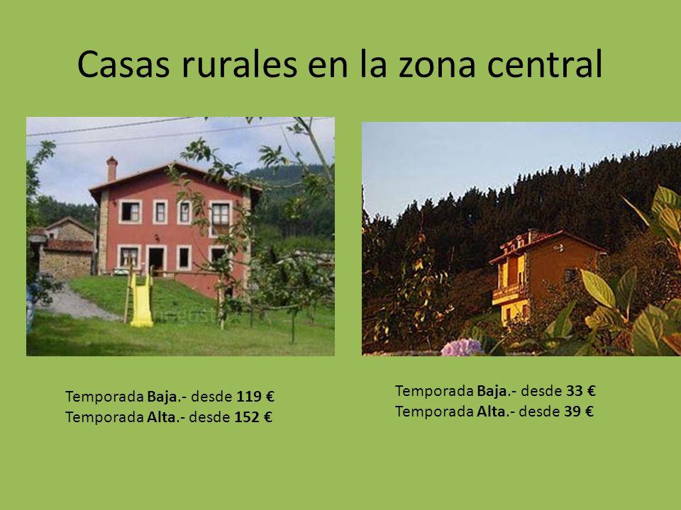 Casas rurales en la zona central