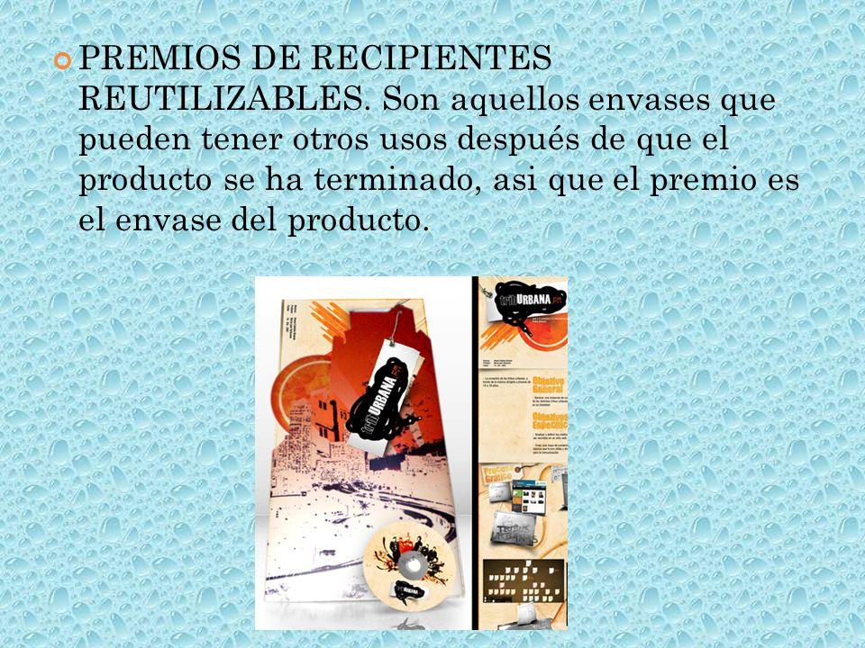 PREMIOS DE RECIPIENTES REUTILIZABLES