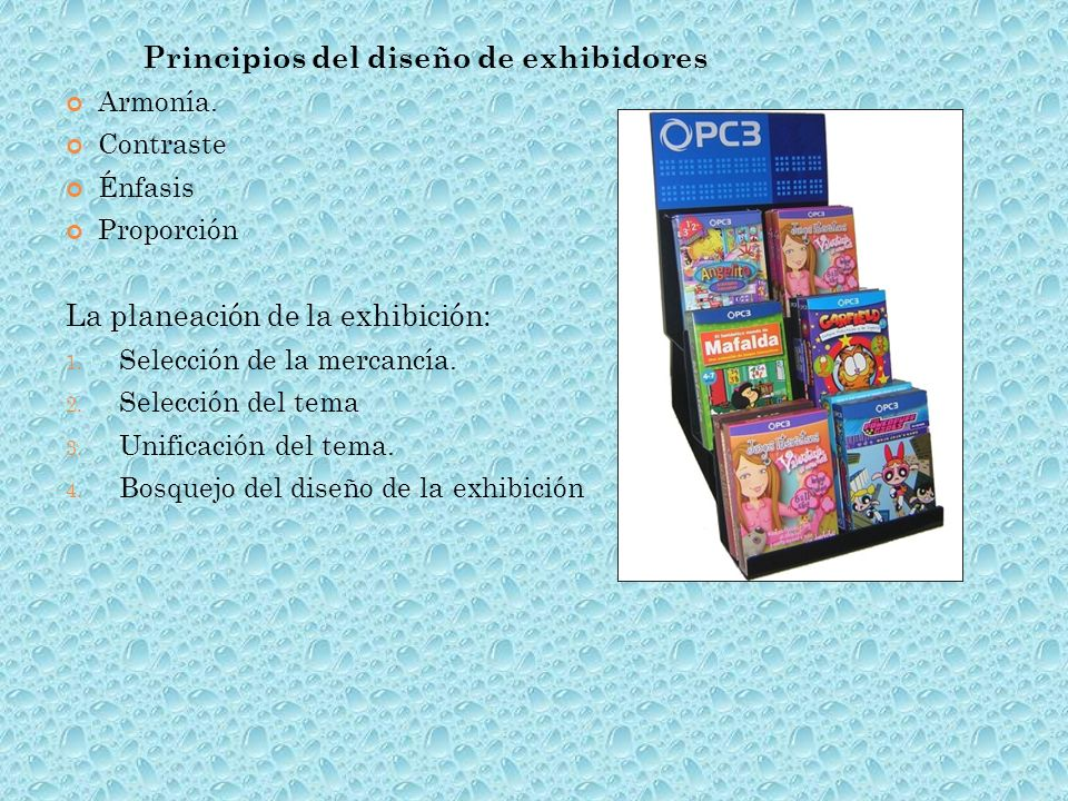 Principios del diseño de exhibidores