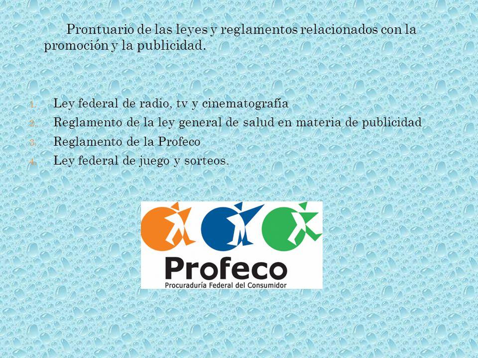 Prontuario de las leyes y reglamentos relacionados con la promoción y la publicidad.