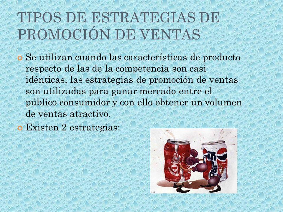 TIPOS DE ESTRATEGIAS DE PROMOCIÓN DE VENTAS