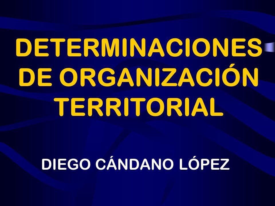 DETERMINACIONES DE ORGANIZACIÓN TERRITORIAL