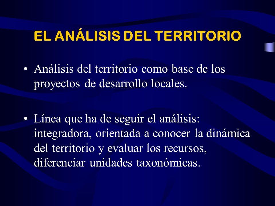 EL ANÁLISIS DEL TERRITORIO