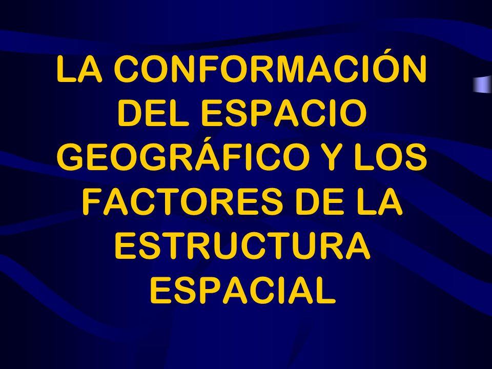 LA CONFORMACIÓN DEL ESPACIO GEOGRÁFICO Y LOS FACTORES DE LA ESTRUCTURA ESPACIAL