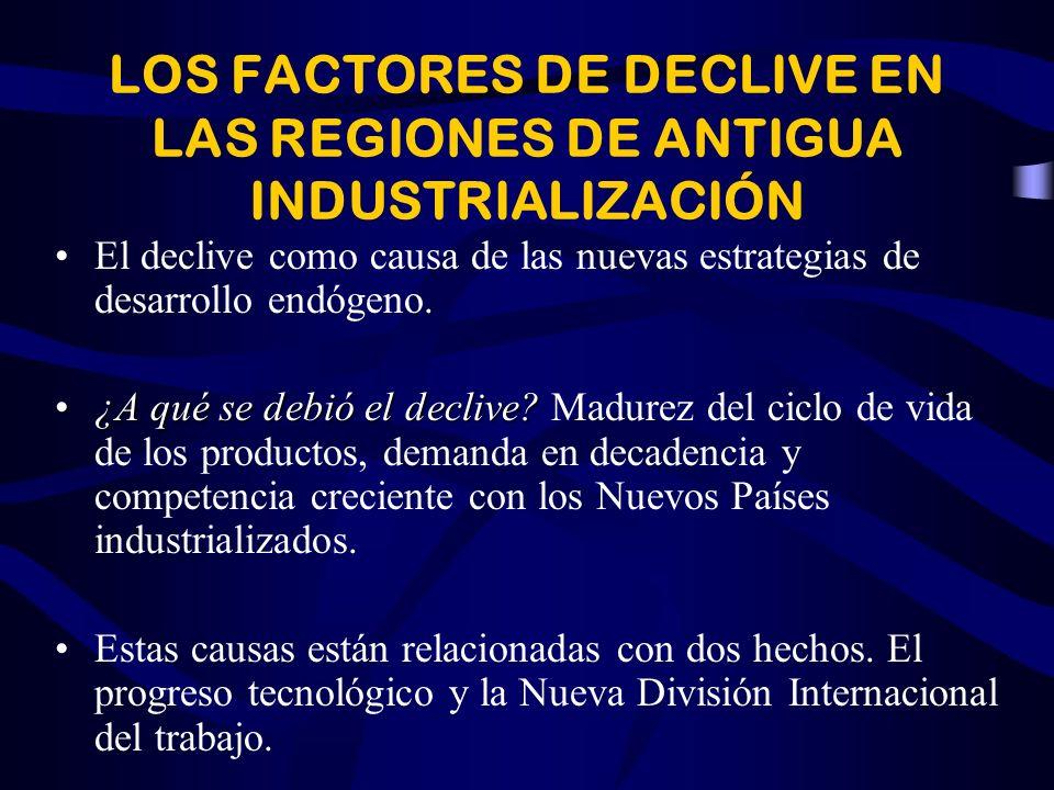 LOS FACTORES DE DECLIVE EN LAS REGIONES DE ANTIGUA INDUSTRIALIZACIÓN