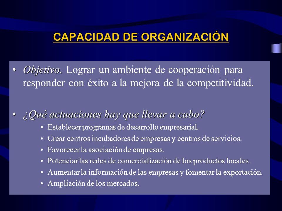 CAPACIDAD DE ORGANIZACIÓN