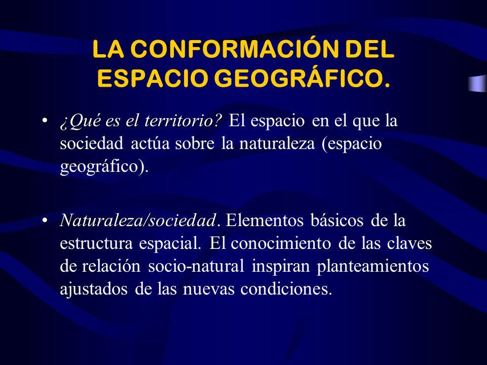 LA CONFORMACIÓN DEL ESPACIO GEOGRÁFICO.