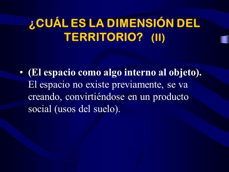 ¿CUÁL ES LA DIMENSIÓN DEL TERRITORIO (II)