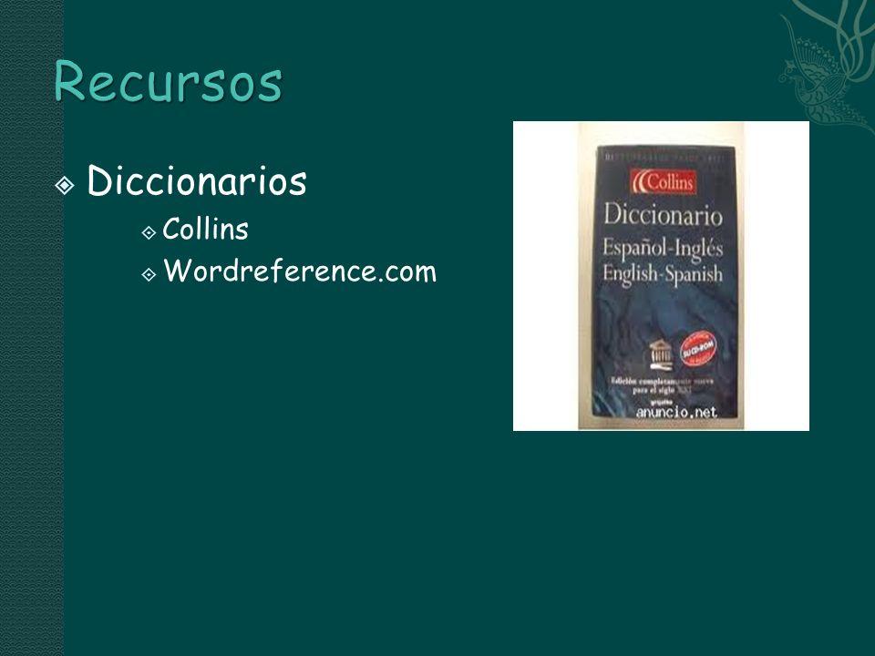 Recursos Diccionarios Collins Wordreference.com