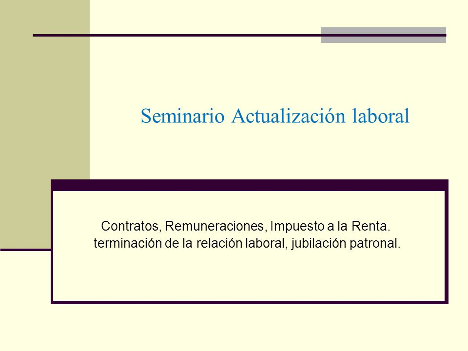 Seminario Actualización laboral