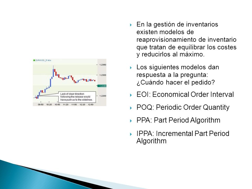 EOI: Economical Order Interval POQ: Periodic Order Quantity