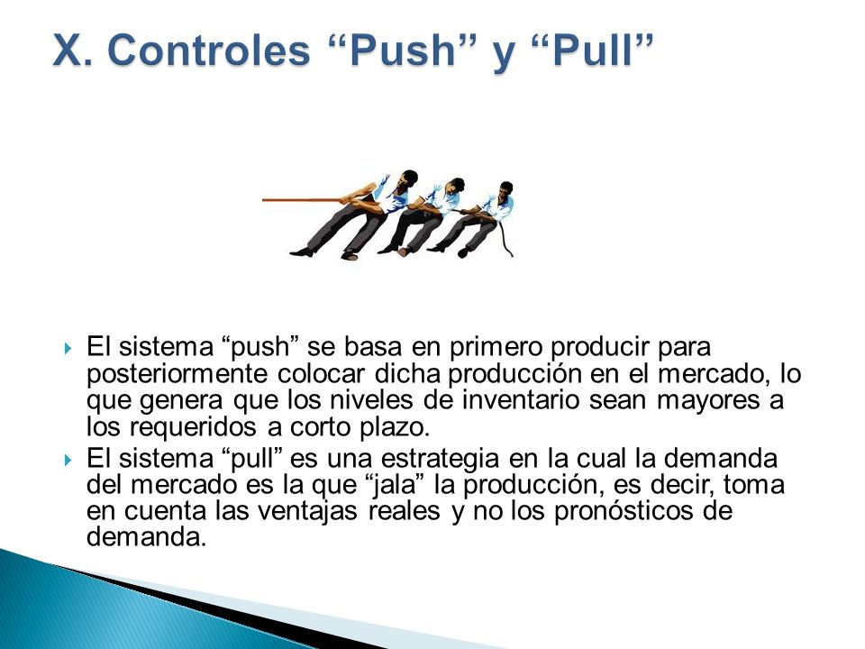 X. Controles Push y Pull