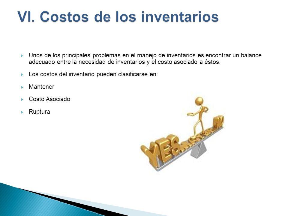 VI. Costos de los inventarios
