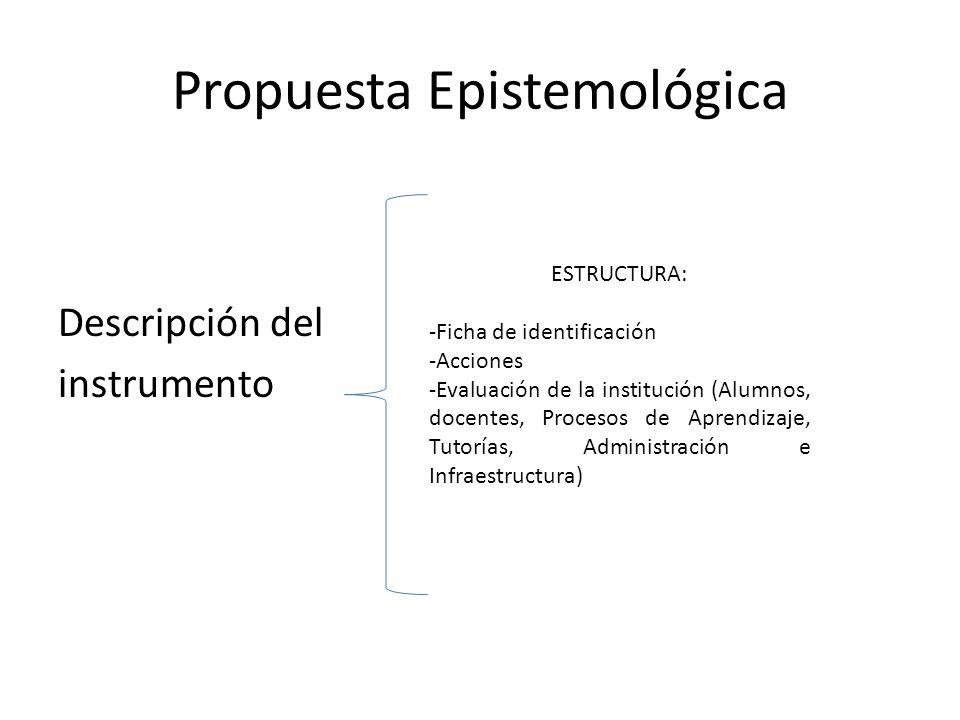 Propuesta Epistemológica