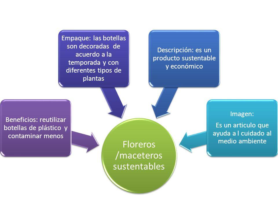 Floreros /maceteros sustentables